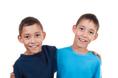 Twins isolated Stock Images