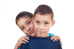 Twins isolated Stock Image