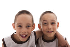 Twins isolated on white Royalty Free Stock Photo