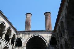 Twins minarets Royalty Free Stock Image