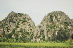 The twins mountains royalty free stock photography