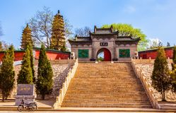 Twins pagodas (Yongzuo) Temple of Taiyuan Royalty Free Stock Photography