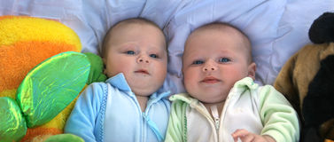 Twins panorama Royalty Free Stock Image