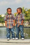 Twins Posing Royalty Free Stock Photography