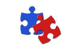 Twins puzzles Royalty Free Stock Photo