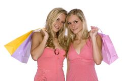 Twins shopping Royalty Free Stock Photos