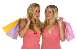 Twins shopping Stock Photography