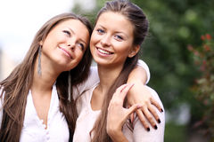 Twins of sister Royalty Free Stock Photos
