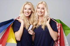 Twins in studio Stock Photos