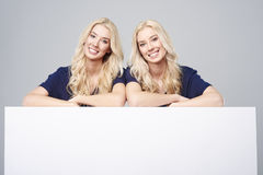 Twins in studio Royalty Free Stock Photography