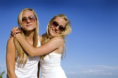 Twins in the summer Stock Photo