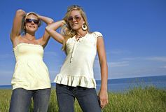 Twins in the summer Stock Images
