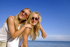 Twins in the summer Stock Photos