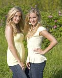 Twins in the summer Royalty Free Stock Photos