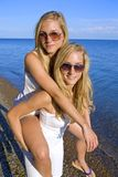 Twins in the summer Royalty Free Stock Image