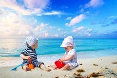 Twins on sun holidays Stock Image