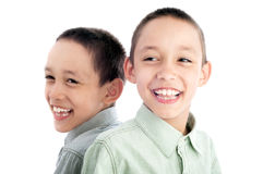 Twins together Royalty Free Stock Photos