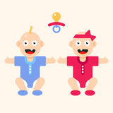 Twins together Royalty Free Stock Photo