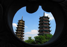 Twins Tower - Gui Lin, China Stock Photography