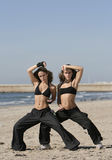 Twins training Stock Photography