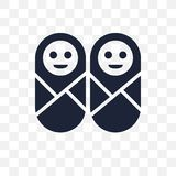 Twins transparent icon. Twins symbol design from People collecti vector illustration