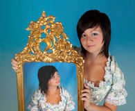 Twins of Zodiac. Gemini or Twins, this photo is part of a series of twelve Zodiac signs of astrology royalty free stock photo