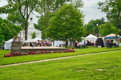Small-town summer festival Royalty Free Stock Photo