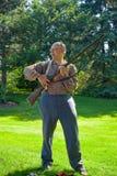 Civil War rifleman demo Stock Photos