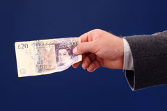 Twintig Britse ponden Stock Afbeeldingen