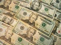 Twintig de dollar van de V.S. rekeningen Royalty-vrije Stock Afbeeldingen