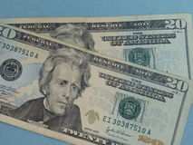 Twintig dollar bill Stock Foto's