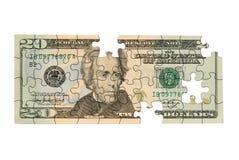 Twintig dollarrekening Stock Afbeeldingen