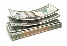 Twintig dollarsbankbiljetten royalty-vrije illustratie