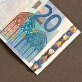Twintig euro Royalty-vrije Stock Fotografie