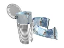 Twintig euro Stock Foto