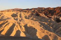 Twintig Muilezelcanion van Zabriskie-Punt De vallei van de dood Stock Fotografie