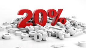 Twintig percenten Stock Fotografie
