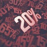 Twintig percentenkorting Stock Fotografie