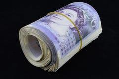 Twintig Pondennota's Royalty-vrije Stock Afbeelding
