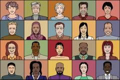 Twintig volwassen mensen royalty-vrije illustratie