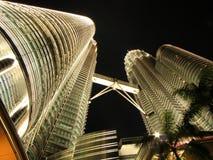 Twintower bij nacht Stock Foto's