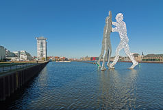 Twintowers and Molecule Men Royalty Free Stock Images