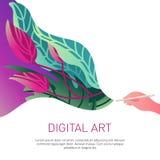 twirl искусства abstact глубоко цифровой красный иллюстрация вектора