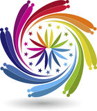 Twirl ζεύγους λογότυπο Στοκ φωτογραφίες με δικαίωμα ελεύθερης χρήσης
