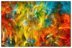twirl искусства abstact глубоко цифровой красный Стоковое Изображение RF