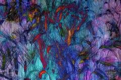twirl искусства abstact глубоко цифровой красный Стоковое фото RF