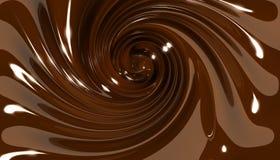 twirl свирли шоколада Стоковые Изображения
