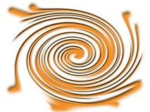 Twirl alaranjado Foto de Stock Royalty Free