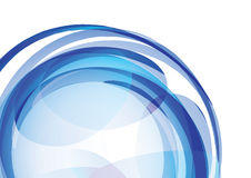 Twirl azul Fotografia de Stock