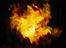 Twirl of bright explosion flash on black backgrounds Stock Images